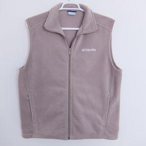 Tan Columbia fleece vest lightweight, size L VGC